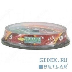 Диск VS DVD+R 8.5Gb 8-х Double Layer Ink Print Cake Box (10 шт)